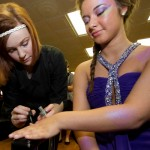 Manicure Touch-up Before Competition
