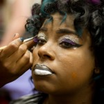 Makeup Being Applied for Competition