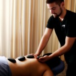 Hot Stone Massage Given by Capri College Student